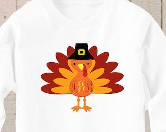 Personalized Turkey Shirt , Turkey Shirt , Turkey Shirt Boys , Monogrammed Turkey Shirt , Thanksgiving Shirt Boys