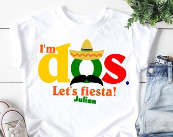 Second Birthday Shirt Im Dos Cinco De Mayo 2nd Lets Fiesta Personalized