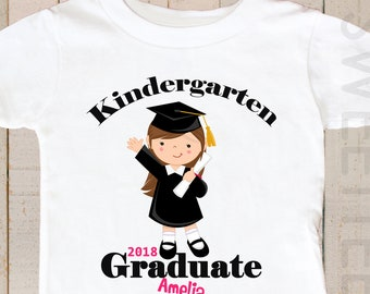 Kindergarten Graduation Shirt Kindergarten Graduate Shirt Personalized with YEAR and name Boy Girl Kids Toddler shirt Youth Shirt