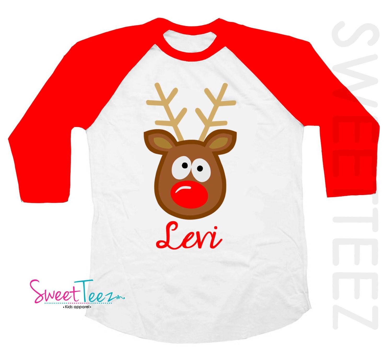 Christmas Shirts Kids Kids Christmas Shirt Personalized   Etsy