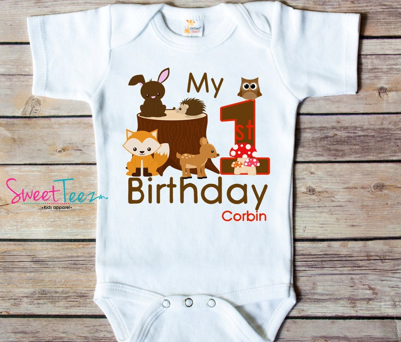 First Birthday Shirt Personalized