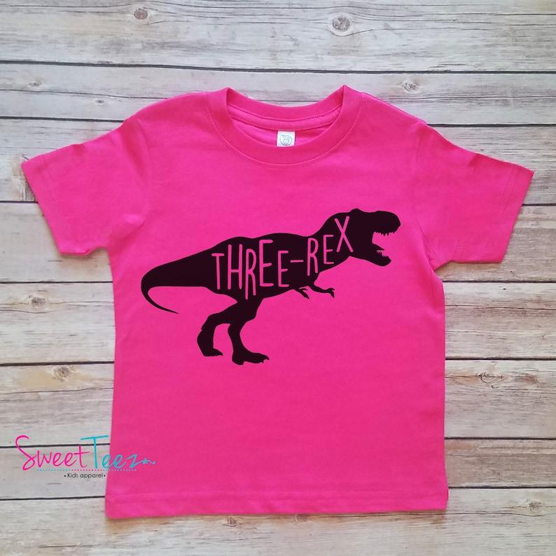 Bardzo dobra Trzecia Koszulka urodziny chłopca Koszulka urodzinowy dinozaur   Etsy ZP32