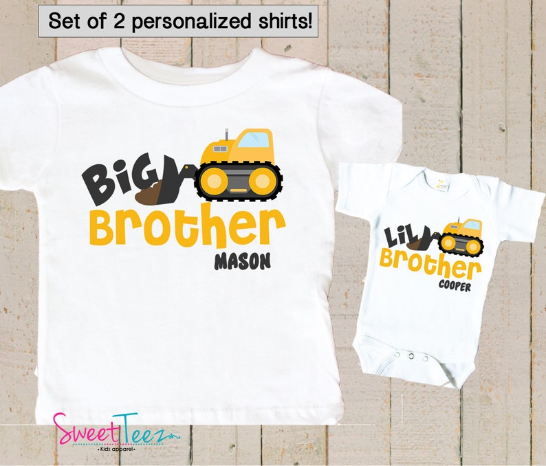 Big Brother Little Brother Shirts   Personalized Big Brother image 0