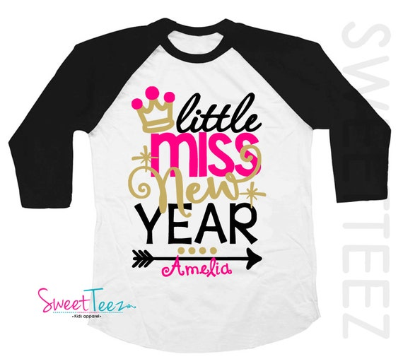 Custom Party Shop Baby Girls Little Miss New Years Eve Hoodie Pullover