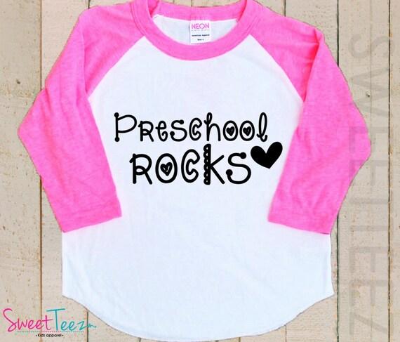 b03465349 Preschool Rocks Shirt Boy Girl Shirt Kids Raglan Shirt
