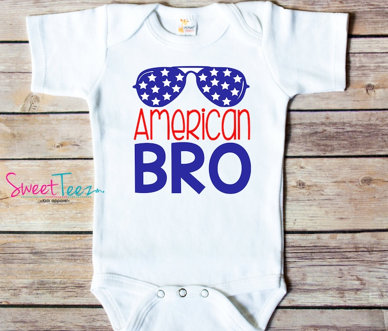 American Bro 4th of July Infant Tee