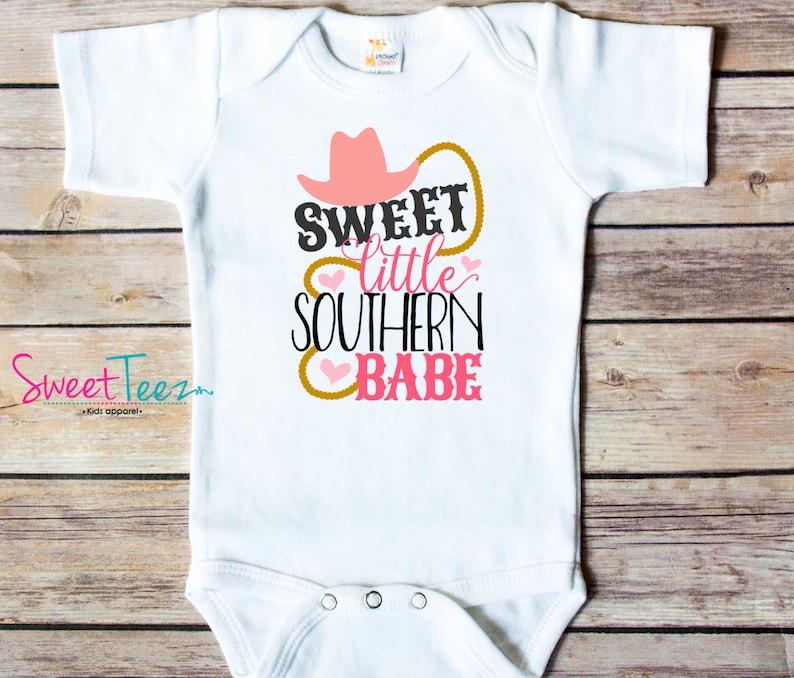 Southern Babe Shirt Girl Shirts Baby Country Bodysuit Shirt image 0
