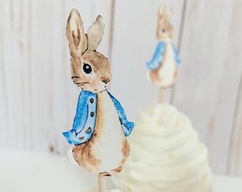 Creative Party J001 Peter Rabbit Cupcake Toppers-12 Pcs