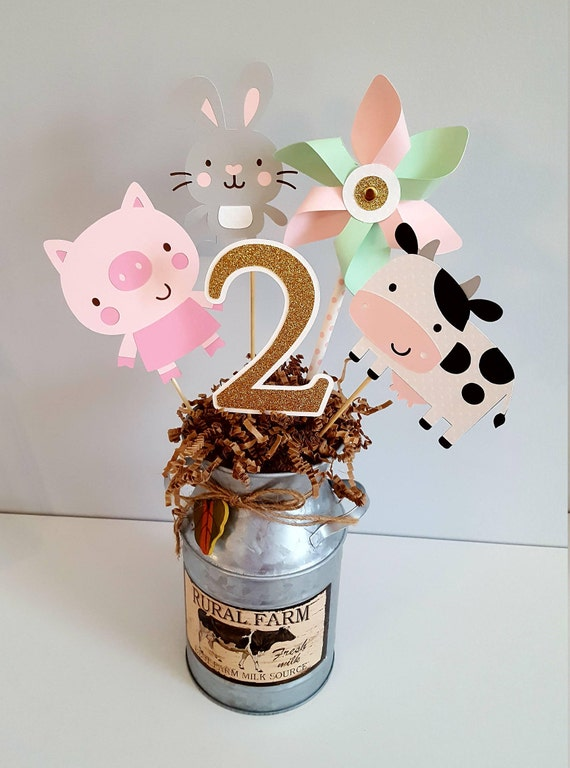 Barnyard Animal Centerpieces Party Decorations Farm Animals Girl Birthday