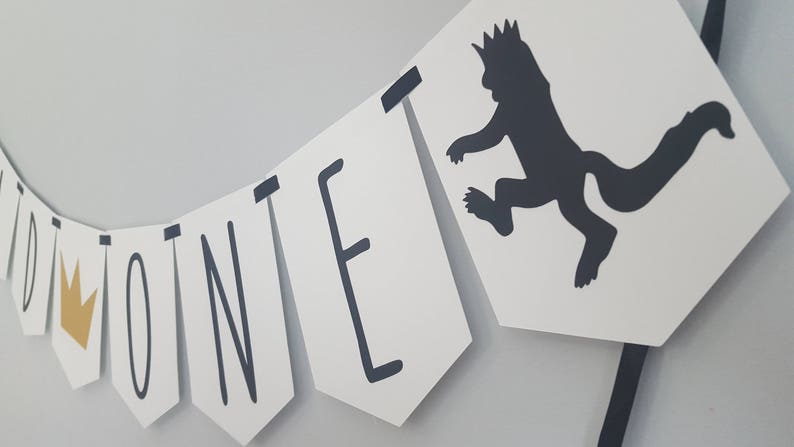 Where the Wild Things Are birthday Wild One Birthday Banner Wild One birthday boy Wild One party Wild One birthday Wild One Banner