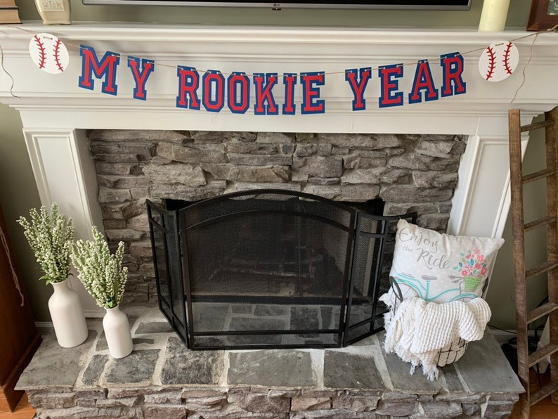 baseball party my rookie year banner  First Birthday Theme Ideas