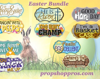 Easter Photo Booth Props   Photo Booth Props   Prop Signs   Easter Signs