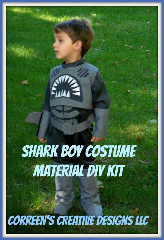 sc 1 st  Etsy & Sharkboy Costume Shark Boy Sewing Costume Kit DIY Costume