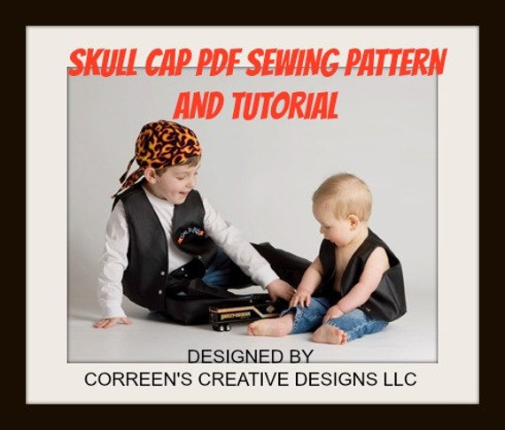 skull cap do rag sewing pattern doo rag pattern welding cap etsy