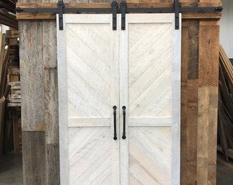 Solid Cypress Sliding Chevron Barn Doors built to order | Etsy