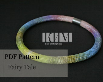 Alien Covenant PDF Pattern for bead crochet necklace Cosmic necklace pattern bead crochet pattern