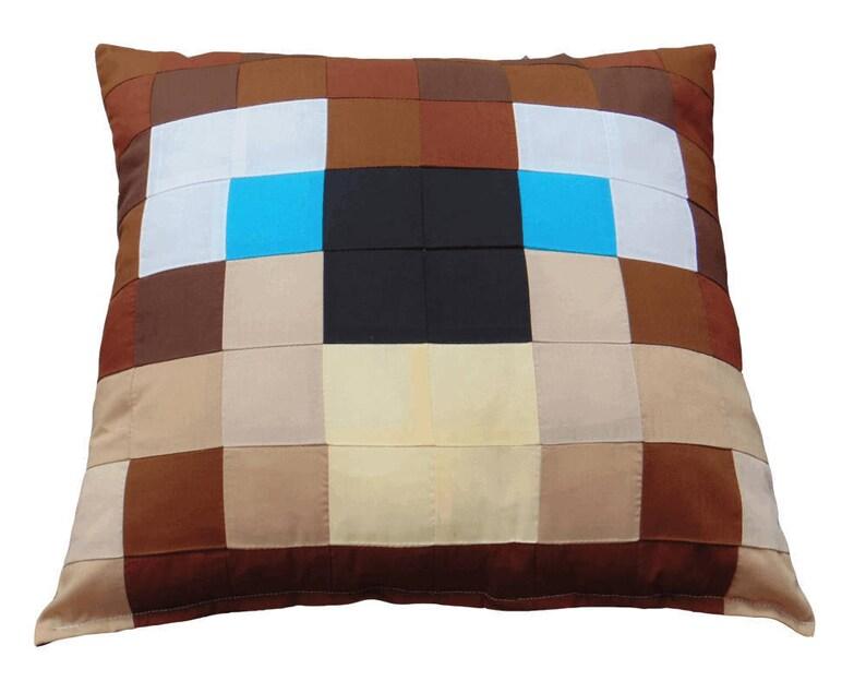 807a53eddf58f Lee Bear Minecraft Cushion Pillow A Backpack Wearing Brown