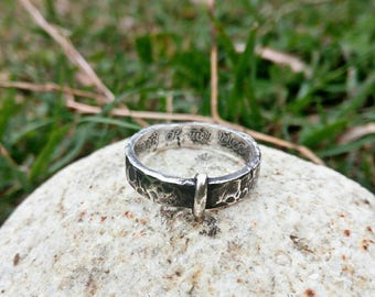 Ring Sterling Silver 925 * 5 mm Highlands Scotland Celtic