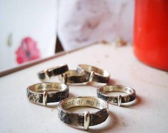 Ring sterling silver 925 - 5 mm Highlands Scotland Celtic