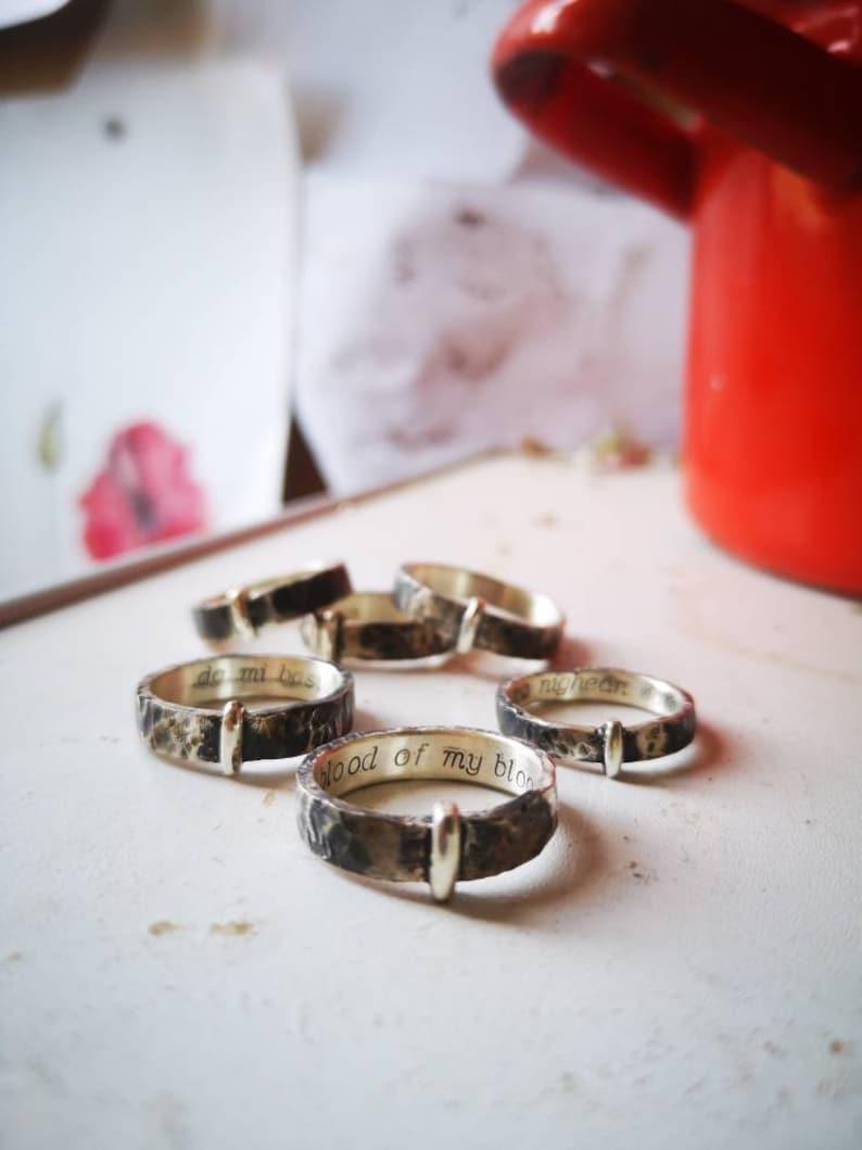 Ring sterling silver 925  5 mm Highlands Scotland Celtic image 0