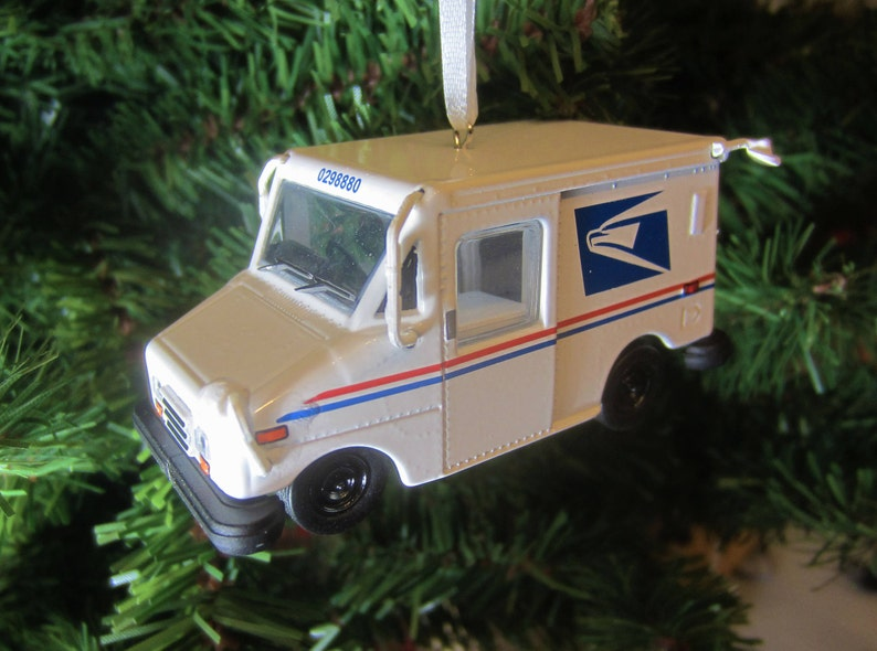 Miniature USPS LLV Mail Carrier Truck Post office Ornament Happy Holidays  Free Shipping! , Fathers Day