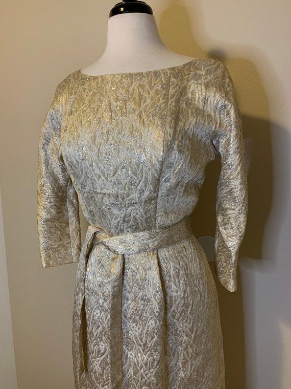 1950s Suzy Perette Brocade Dress - image 3