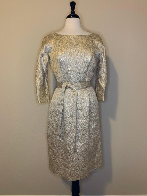 1950s Suzy Perette Brocade Dress - image 5