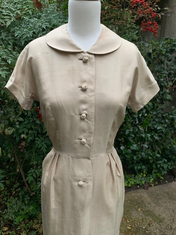 1950s Alexander Lipton Dress || Vintage Shirt Dres