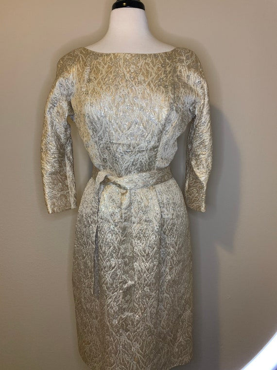 1950s Suzy Perette Brocade Dress