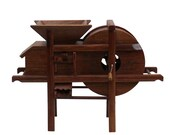 Chinese Rosewood Handmade Miniature Rice Grain Crushing Mill Display Decor ws264E