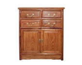 Chinese Brown Huali Rosewood 4 Drawers Side Table Cabinet cs4520E