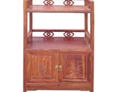 Chinese Huali Rosewood Display Cabinet Side Table cs1202E