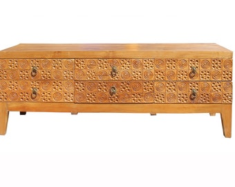 BUILT2ORDER  Geometric Pattern Credenza With Campaign Accents