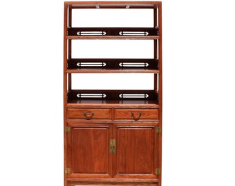 Chinese Round Top Tower Shape Display Curio Cabinet Room Divider cs4245E