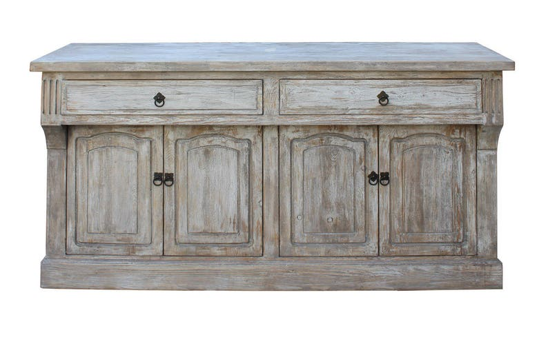 Credenza Console : Chinese distressed finish high credenza console buffet table etsy