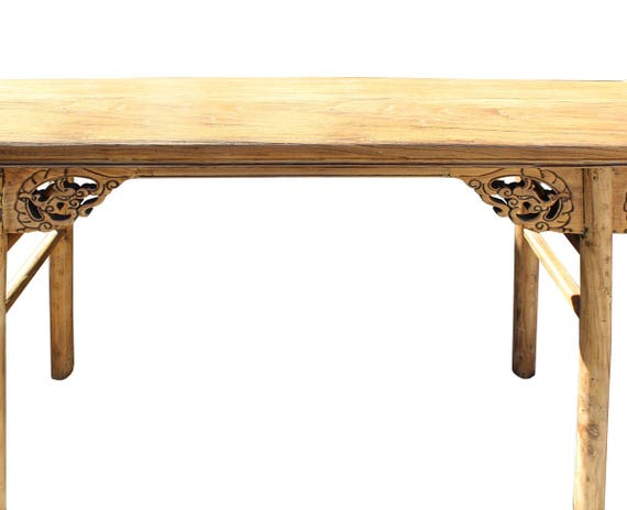 Side Table Chinees.Chinese Raw Wood Altar Dragon Carving Apron Console Side Table Cs2735e
