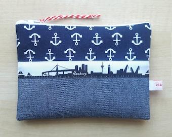 kleines Anker-Portemonnaie HAMBURG blau elb-boje
