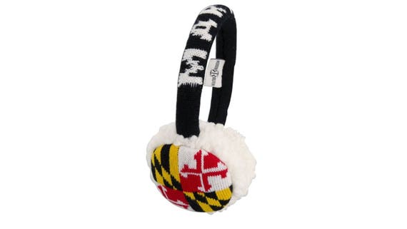 Maryland Flag Warm Womens Adult Ear Muffs One Size Fits Most