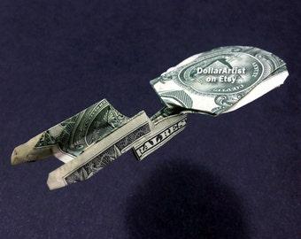 5eacac354b021c STAR TREK ENTERPRISE Spaceship Money Origami Art Dollar Bill Cash Sculptors  Bank Note