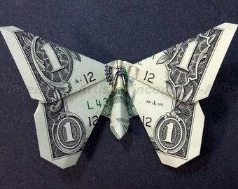 Money Origami butterfly | Dollar bill origami, Money origami ... | 270x340
