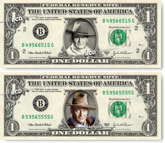 """John Wayne /""""The Duke/"""" Colorized Coin /& Currency Set in 8/"""" x 10/"""" Frame"""