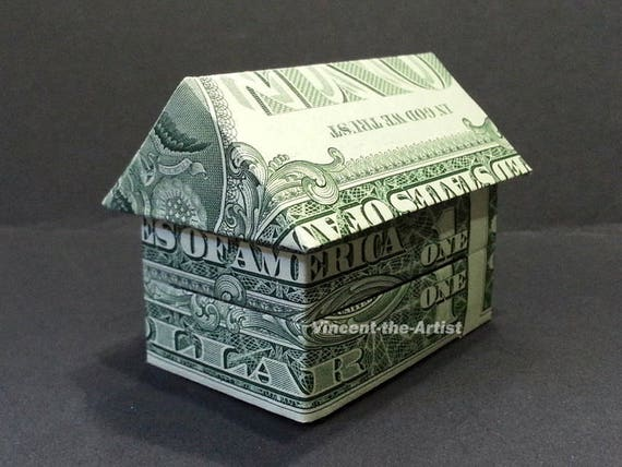 3 D House Dollar Origami Building Home Made From Real Money Etsy