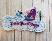 RARE 4.5 quot x 3 quot Disneyland Peter Pan 39 s Flight Ride Disney Parks Embroidered Iron On Patch Applique Inspired