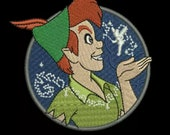 Preorder PRESALE RARE 3 quot Disneyland Peter Pan Tinkerbell Disney Parks Embroidered Iron On Patch Applique Inspired Disneyworld Magic Kingdom