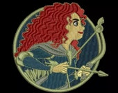 Preorder PRESALE RARE 3 quot Merida Brave Princess Disney Parks Embroidered Iron On Patch Disneyworld Magic Kingdom