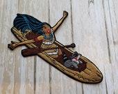 RARE 5 quot x 3 quot Disneyland Pocahontas Meeko Princess Disney Parks Embroidered Iron On Patch Applique Inspired