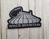 3.5 quot x 2.25 quot Disneyland Disney Space Mountain Ride Fabric Embroidered Iron On Patch Applique DIY No Sew, Inspired