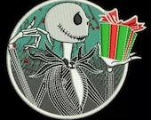 Preorder PRESALE RARE 3 quot Jack Skellington Sally Nightmare Before Christmas Disney Parks Embroidered Iron On Patch Disneyworld Magic Kingdom