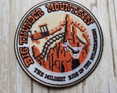PREORDER PRESALE RARE 4 quot Disneyland Disney Parks Big Thunder Mountain Railroad Ride Embroidered Iron On Patch Applique No Sew, Inspired