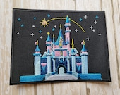 IN STOCK 4 quot x 3 quot Disneyland Disney Parks Sleeping Beauty Logo Castle Embroidered Iron On Patch Applique DIY No Sew, Inspired